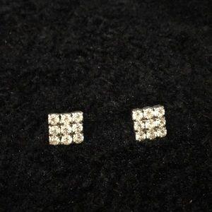 Estate rhinestone earrings need backs